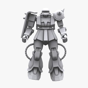 3D gundam mobile suit model