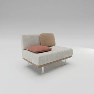 3D Manutti Flex Large middle seat model