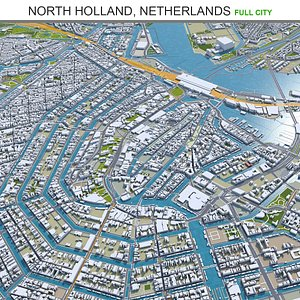 3D North Holland Netherlands
