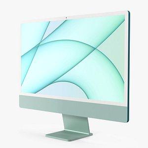 Apple iMac 2021 Green 3D model