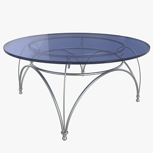 Low  Glass Table 3D model