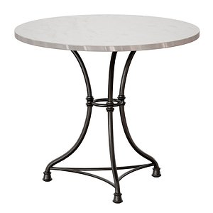 3D French Kitchen Round Bistro Table model