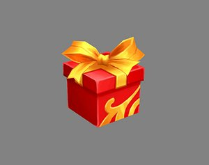 Cartoon Red Square gift box model