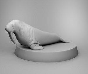animals nature walrus 3D model