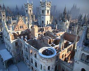 medieval city ruins pack 3D