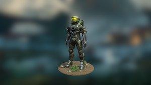 3D model spartan 117