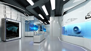 3D exhibition showroom interior