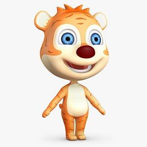 cartoon animation character 3D model