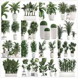3D model Collection of plants 32 pieces