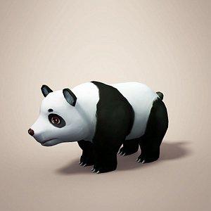 panda cartoon 3D