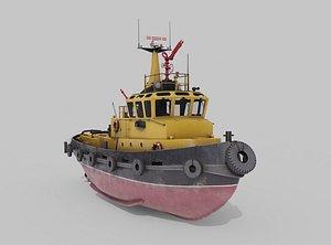 Tugboat Havendienst 4 3D model
