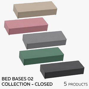 3D Bed Bases 02 Collection - Closed