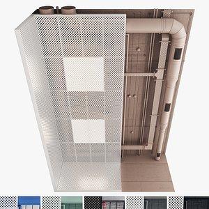 3D Decorative Ceiling Set 04 model