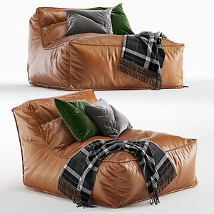 Verzelloni Zoe pouf armchair 3D model