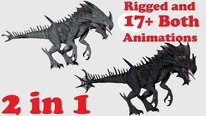 3D ankylosaurus ankylosaurid
