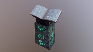 3D model Wizard Book Stand