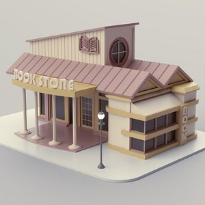3D Book Store 02