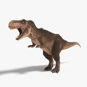 3D tyrannosaurus rex fur