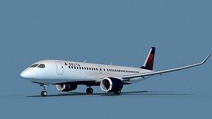 3D model Bombardier CS100 Delta