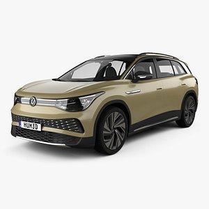 3D Volkswagen ID6 X Prime 2021 model