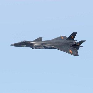 j20 fighter jet 3D model