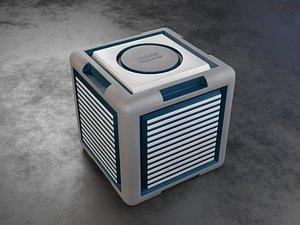 3D Sci-Fi Cube