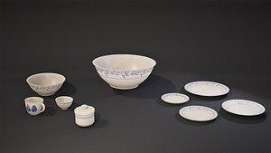 bowl ceramic 3D model