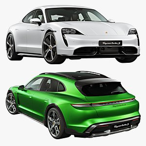 3D Porsche Taycan and Taycan Cross Turismo