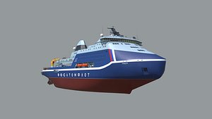 Icebreaker Lider Project 10510 3D model