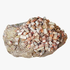 3D model brick pile