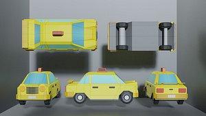 3D Lowpoly Taxi Car