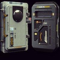 Scifi Moonbase Doors