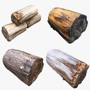 3D Tree Stump Collection 09