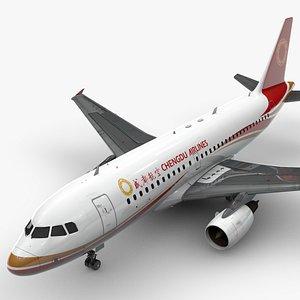 AirbusA319-100CHENGDU AirlinesL1413 3D model