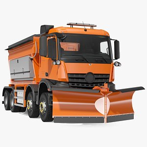 3D model gritter truck rigged