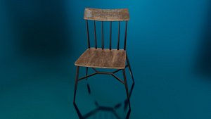 kitchen chair seat 3D model
