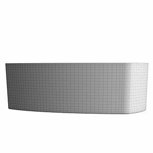 table wash basin triangle 3D model