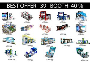 3D Booth Exhibition Stand x2 model