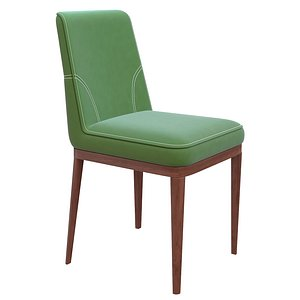 3D Pokoc Barton olive chair stitched
