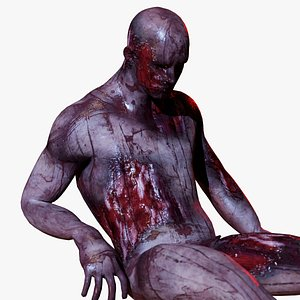 3D model mutilated body parts pack