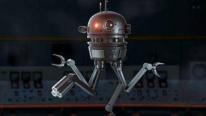 sci-fi robot drone 3D