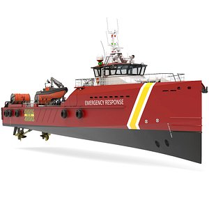 FAST EMERGENCY RESPONSE VESSEL 3D model