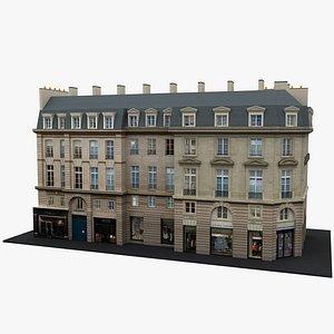 Typical Parisian Apartment Building 21 3D model