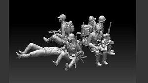 japan soldiers 3D model