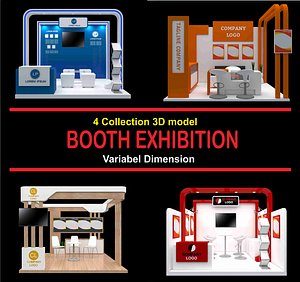 3D model booth exhibit expo