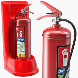 single extinguisher fiberglass stand 3D model