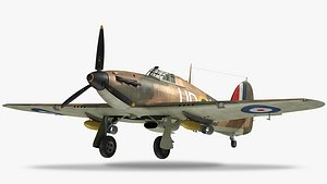 3D hawker hurricane