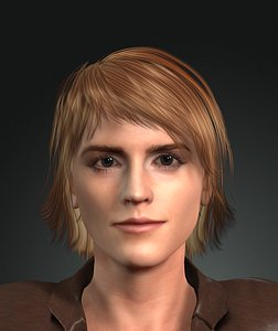 3d model of Emma Watson. Hermione harry potter actor 3D