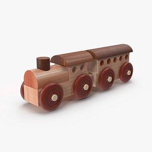 Wooden Toy Train 1 3D Model 3D model