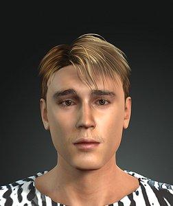 Justin Bieber the great singer 3D model